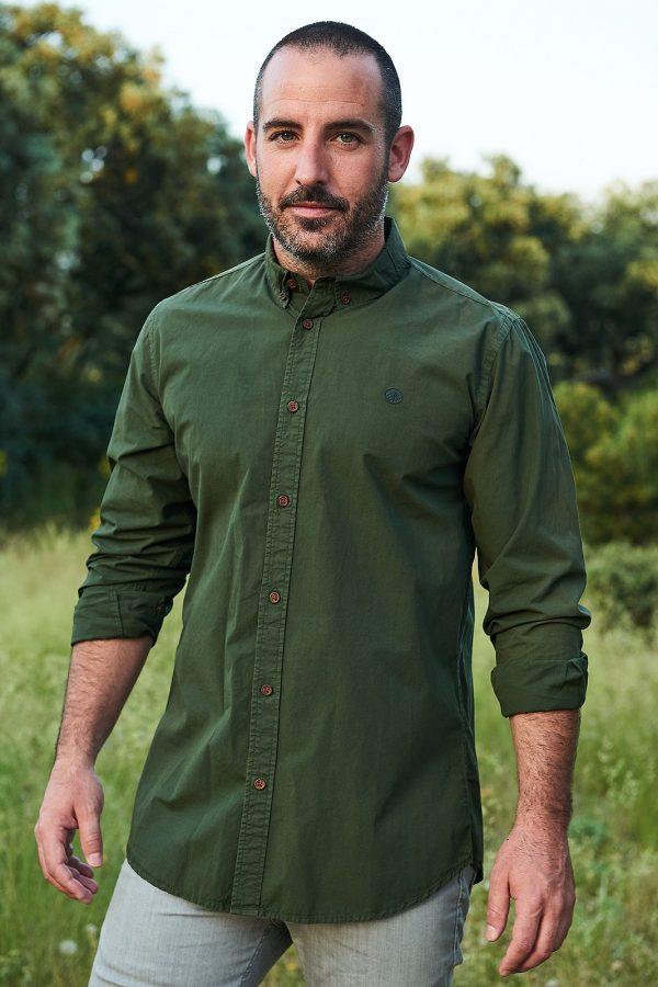 CAMISA LISA RIFLE GREEN de la colección Green Forest Wear moda sostenible de hombre