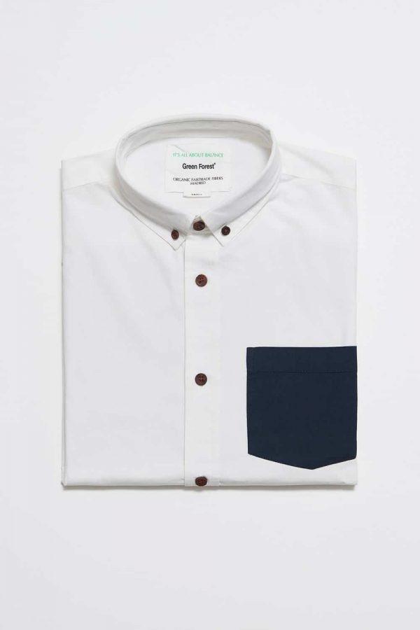 CAMISA LISA SWING de hombre, colección green forest de moda sostenible online, tejidos y tintes naturales.