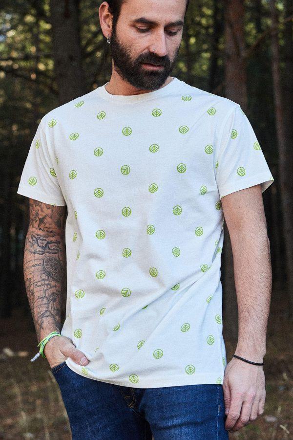 CAMISETA ESTAMPADA ALEJANDRO, camiseta diseño hombre, fabricada en algodón orgánico, respetando comercio justo y medio ambiente.
