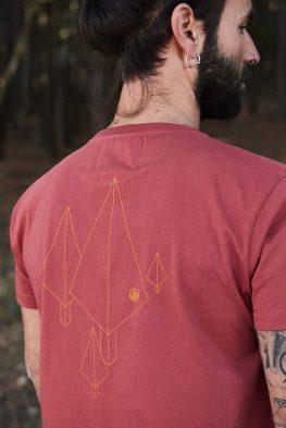 CAMISETA ESTAMPADA TARGARYEN para hombre, con estampado trasero de árboles, naturaleza y geometría nos inspira