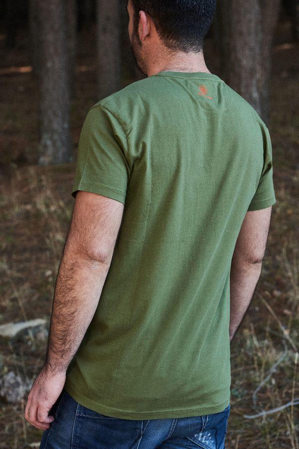 CAMISETA ESTAMPADA TREE de hombre. Colección de moda sostenible online Green Forest