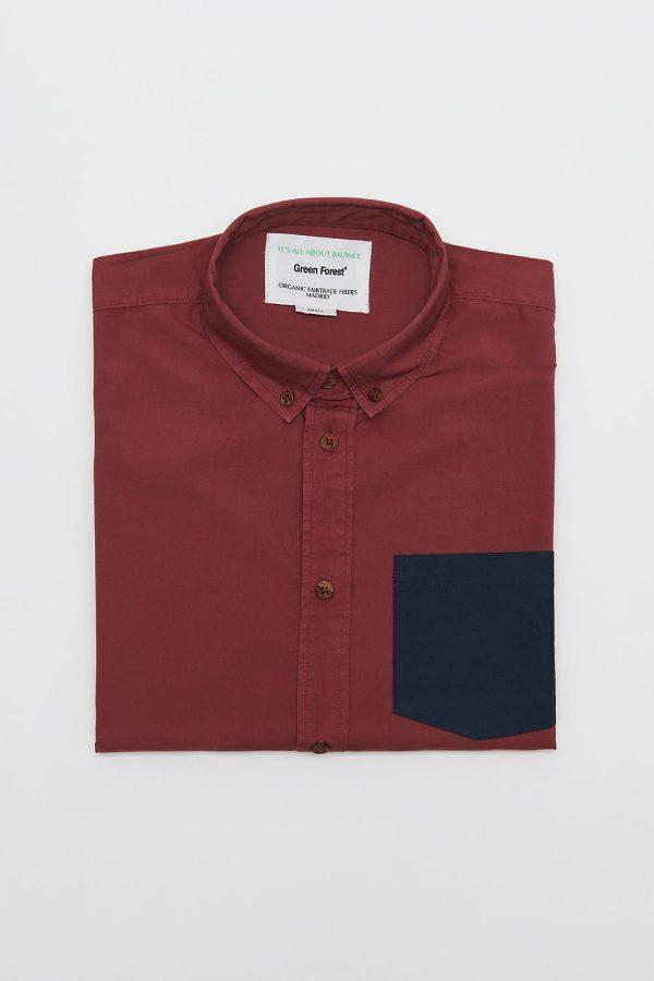 CAMISA LISA SCOTLAND, colección fabricada en algodón orgánico, respetando comercio justo y medio ambiente.
