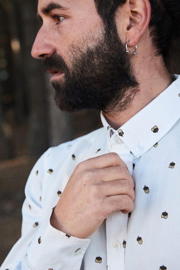 CAMISA ESTAMPADA WILD FOREST para hombre. Colección de moda sostenible online para hombre.