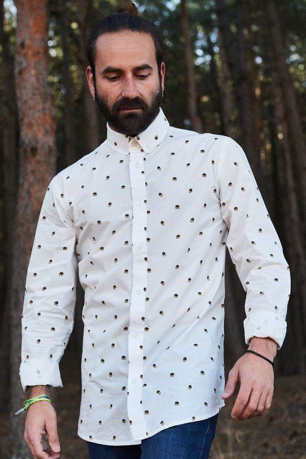 CAMISA ESTAMPADA WILD FOREST para hombre. colección de moda sostenible online