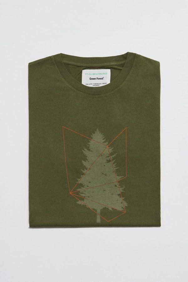 CAMISETA ESTAMPADA TREE online de hombre. Moda hombre, prendas fabricadas en algodón orgánico