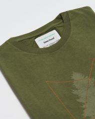 CAMISETA ESTAMPADA TREE para hombre manga corta en color verde