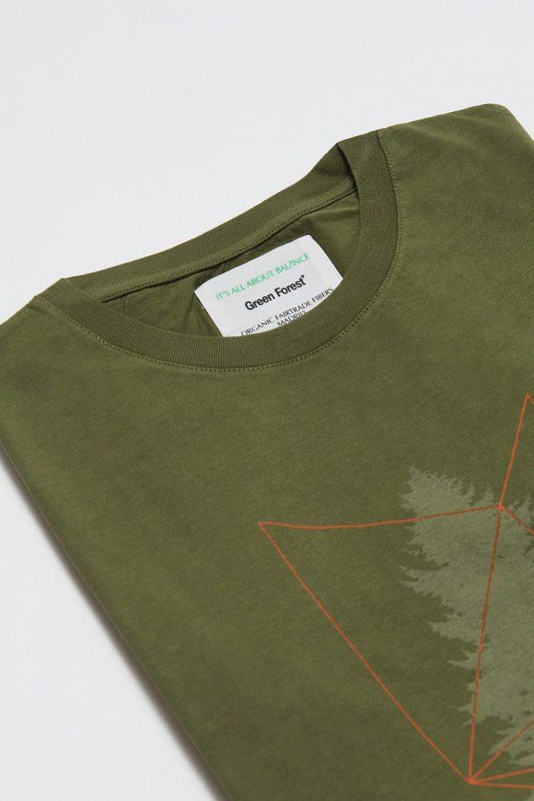 CAMISETA ESTAMPADA TREE de hombre, en manga corta con diseño único. Algodón orgánico