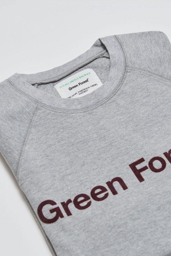 sudadera algodón orgánico gris hombre tienda online ropa ecológica