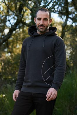 Sudadera capucha hombre algodón orgánico y tintes eco friendly