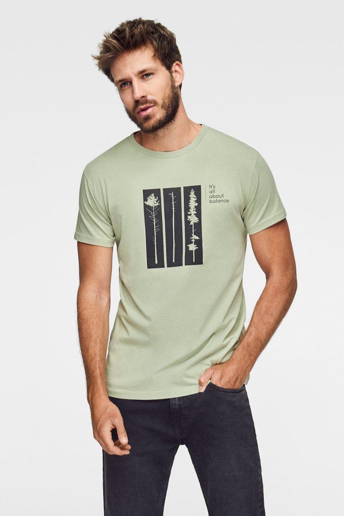 camieta hombre algodon organico green