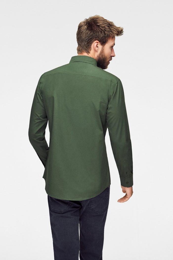 camisa rifle green para hombre