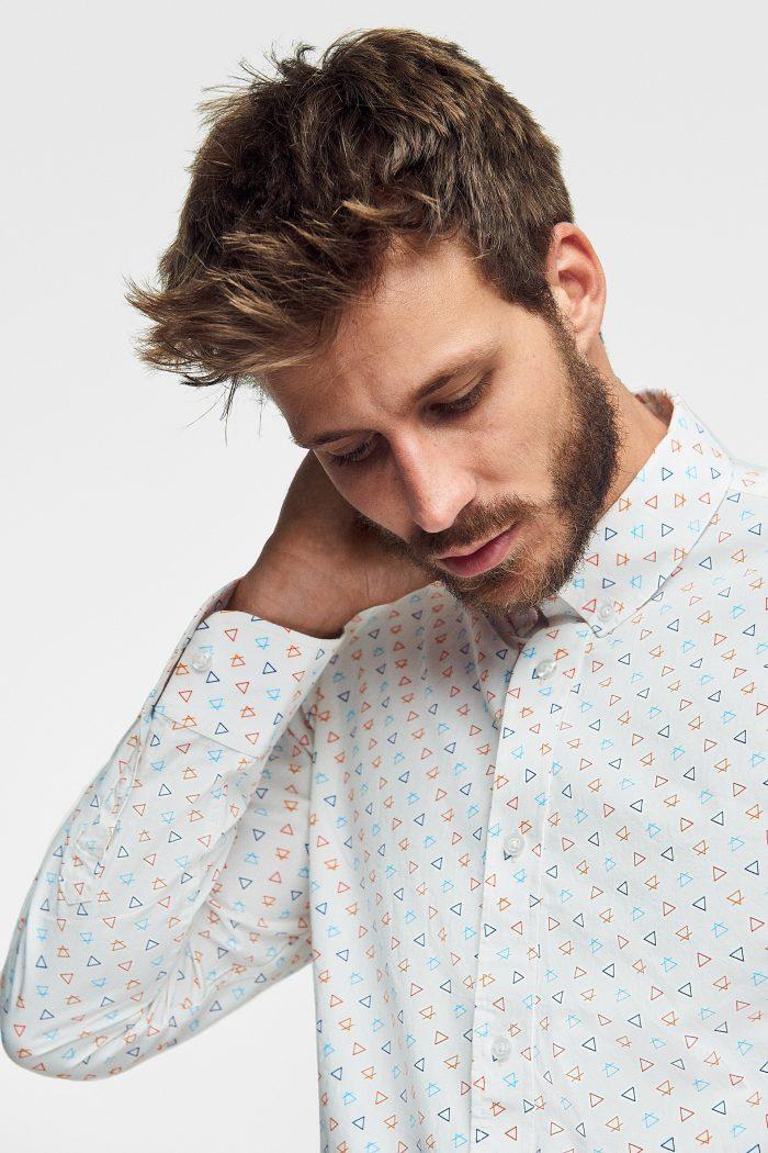 camisa estampada alchemist para hombre de algodón orgánico