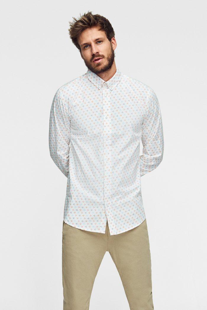 camisa estampada sostenible para hombre alchemist de los 4 elementos de la alquimia