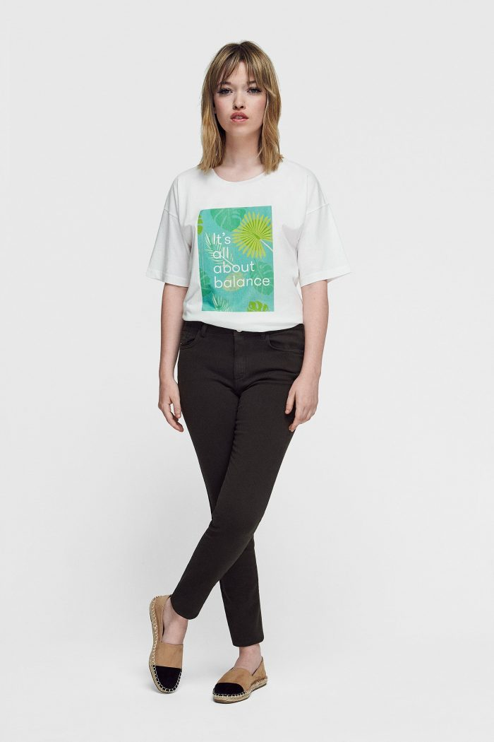 camiseta de algodón orgánico para mujer green forest wear