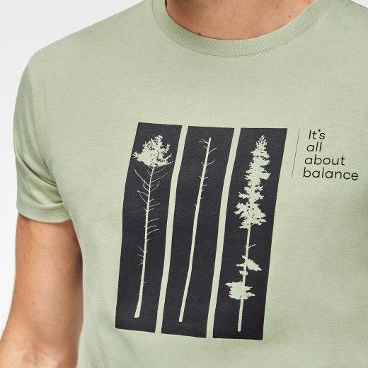 Camiseta algodón ecológico para hombre Balance