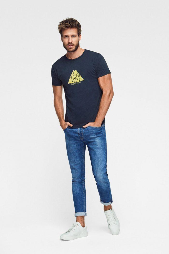 camiseta ecológica azul marino para hombre