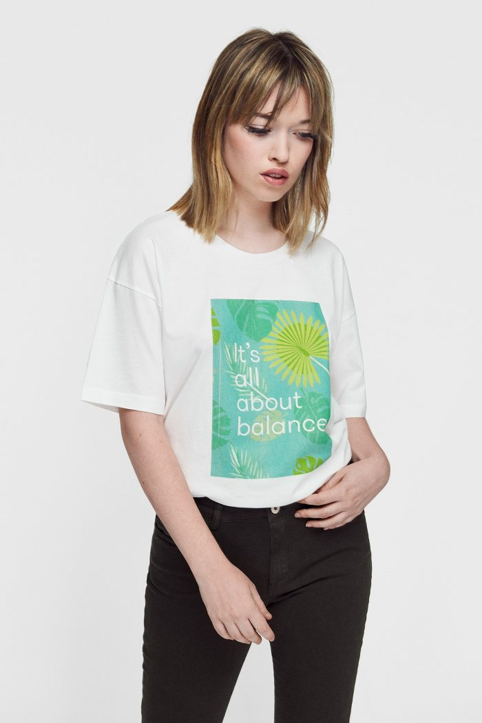 camiseta ecológica de mujer Tropic colección moda sostenible
