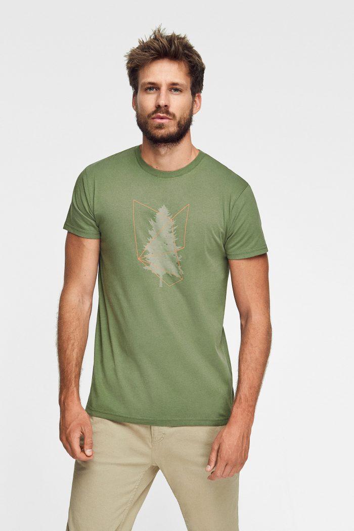 camiseta ecológica manga corta para hombre