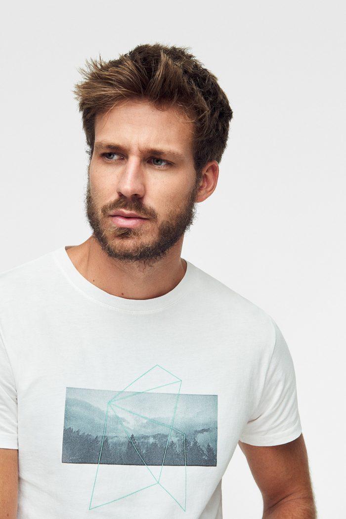 camiseta ecológica para hombre jungle, marca green forest wear