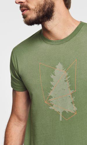 camiseta tree para hombre hecha de algodón orgánico en color verde