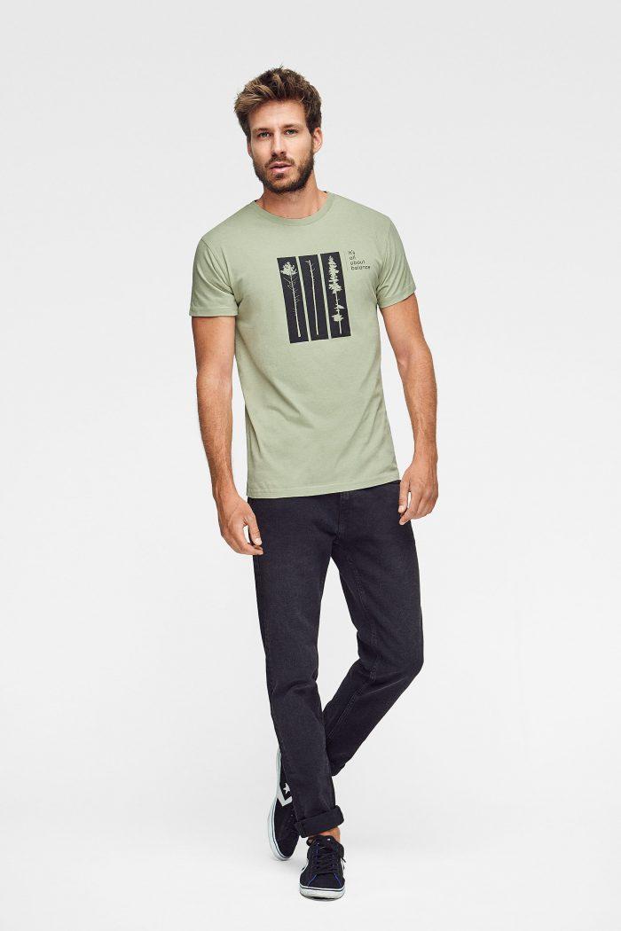 camiseta para hombre Balance de algodón orgánico
