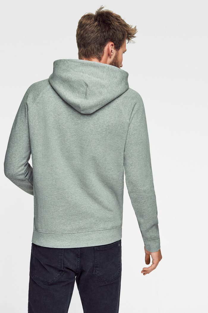 sudadera con capucha para hombre green forest wear de algodón ecológico