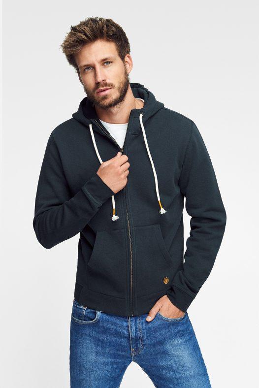 hoodie zipper nature algodón orgánico para hombre