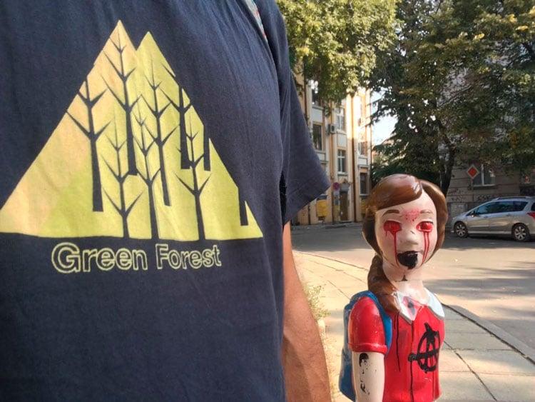 Llorando sangre en Turquía con camiseta Green Forest Wear