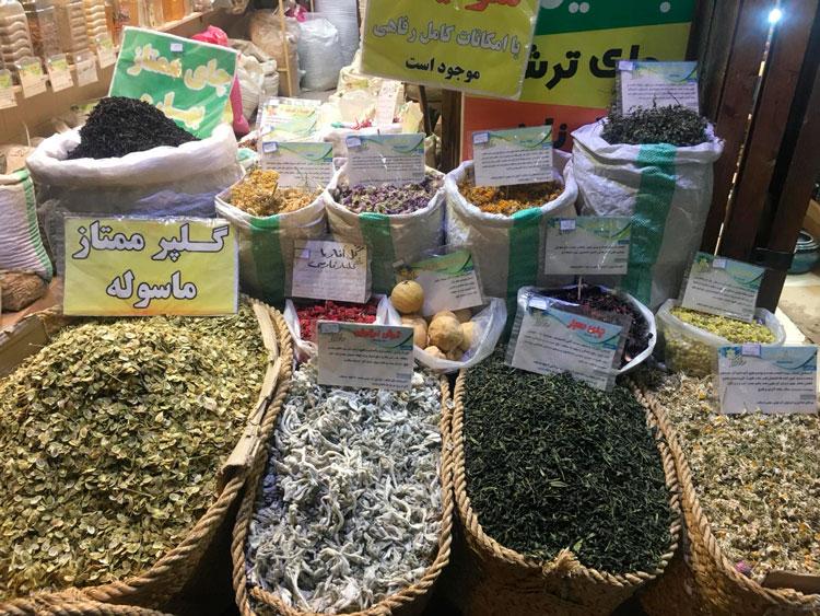 mercado árabe con especias