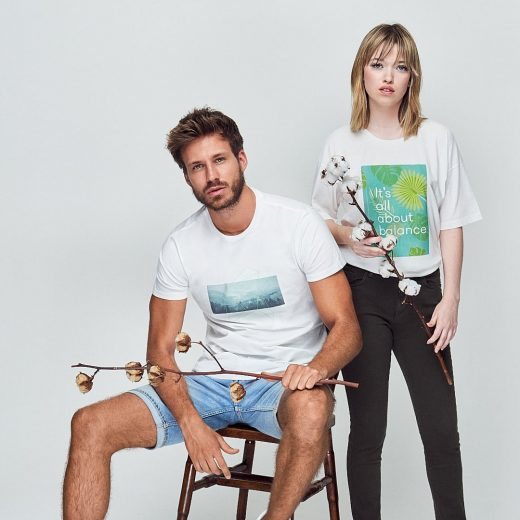 moda sostenible y moda ecológica para hombre y mujer de algodón orgánico green forest wear