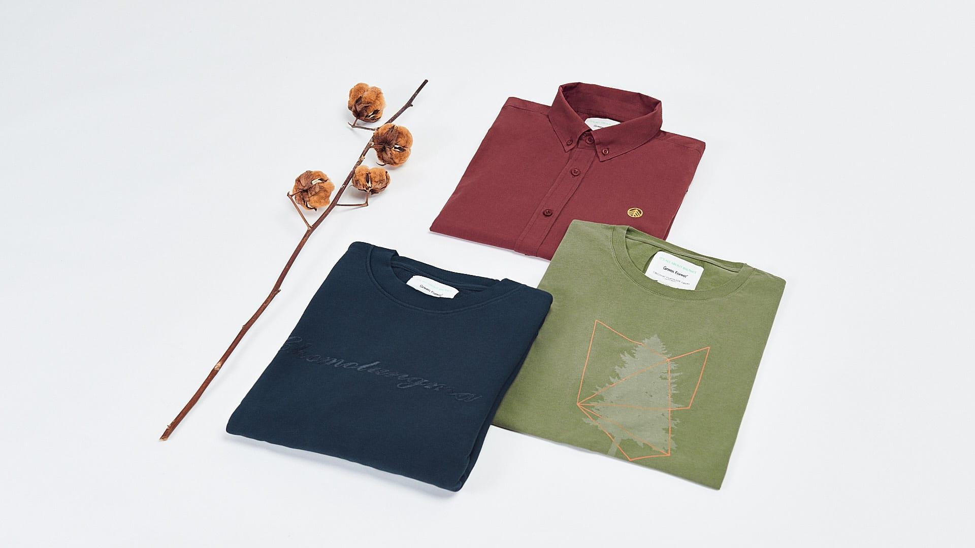 ropa algodon ecologico green forest wear