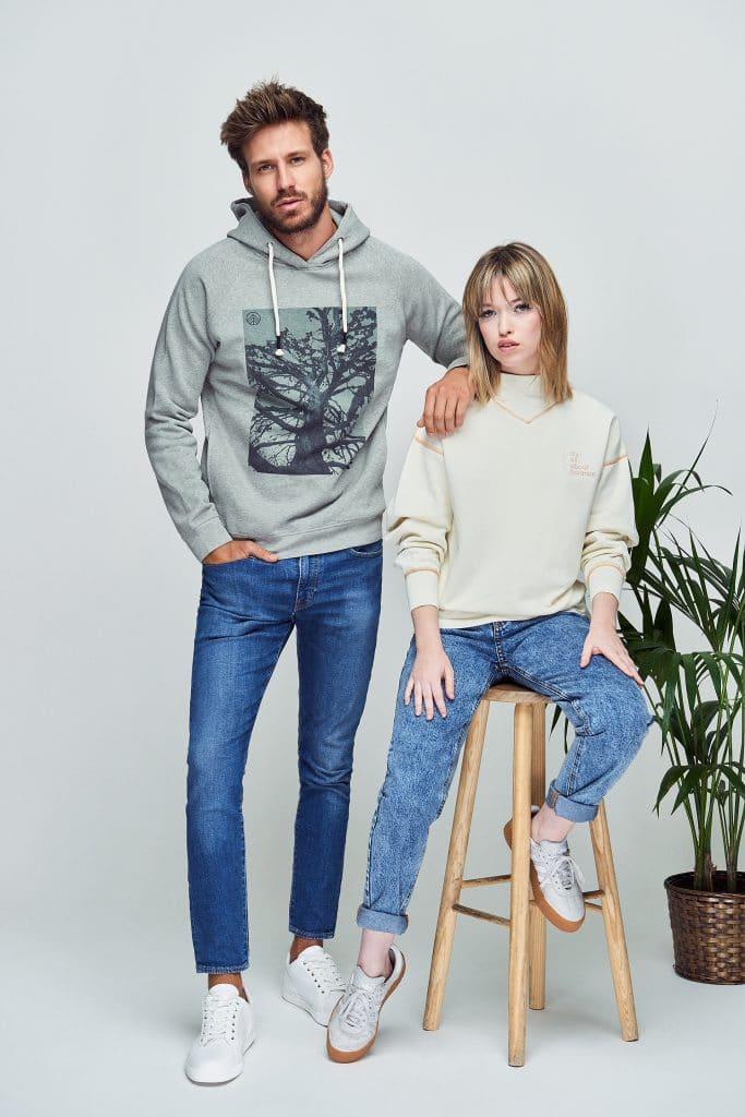 marca de moda sostenible con algodón orgánico para hombre y moda sostenible mujer green forest wear
