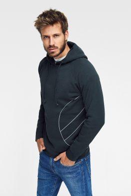 Ropa ecológica online Green Forest Wear sudadera con bolsillos y capucha para hombre green forest wear