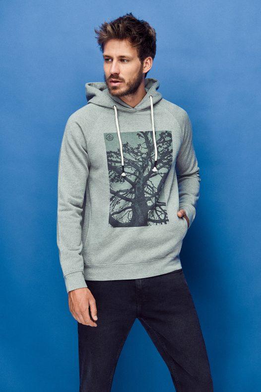 sudadera hoodie lunar rock para hombre de algodón orgánico