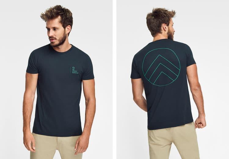 Camiseta hombre algodón orgánico Green Forest Wear, modelo Pirate Green