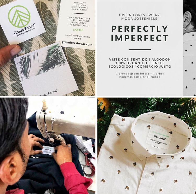 Etiquetas de las prendas Green Forest Wear