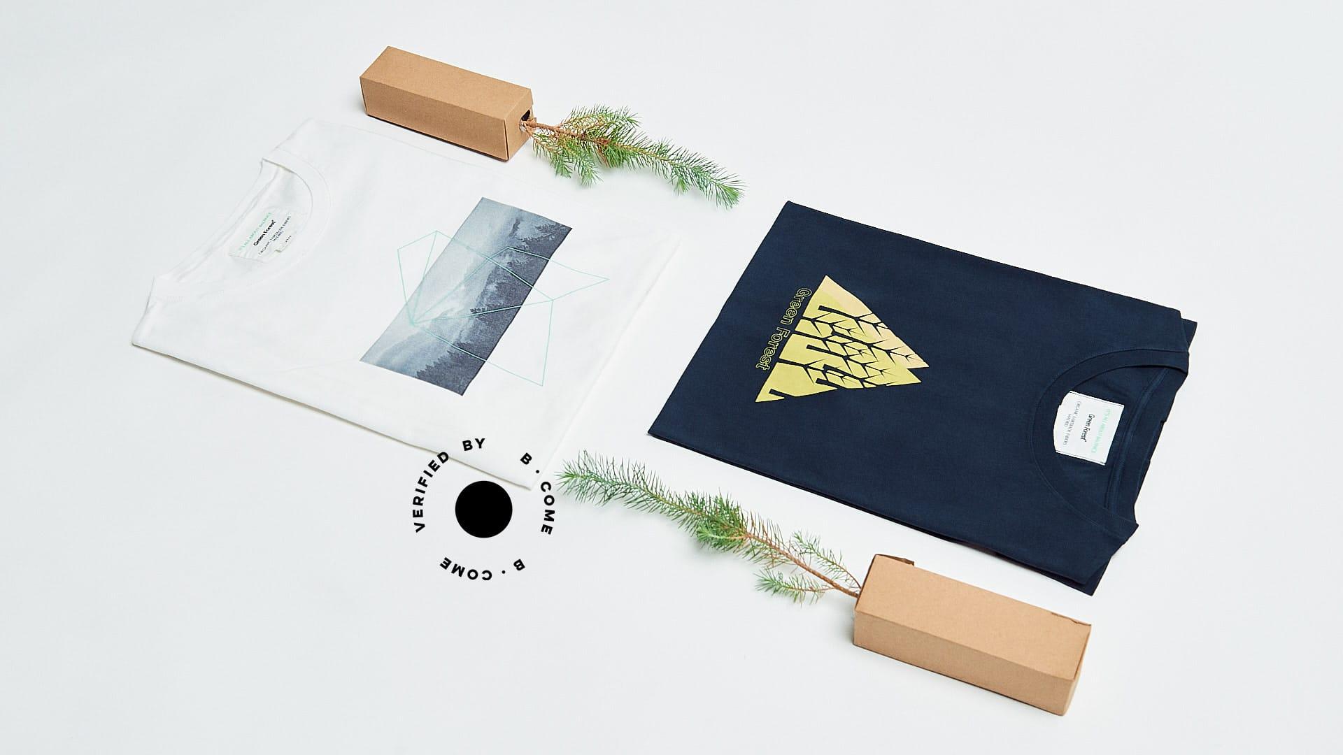 camisetas ecológicas de algodón orgánico Green Forest Wear