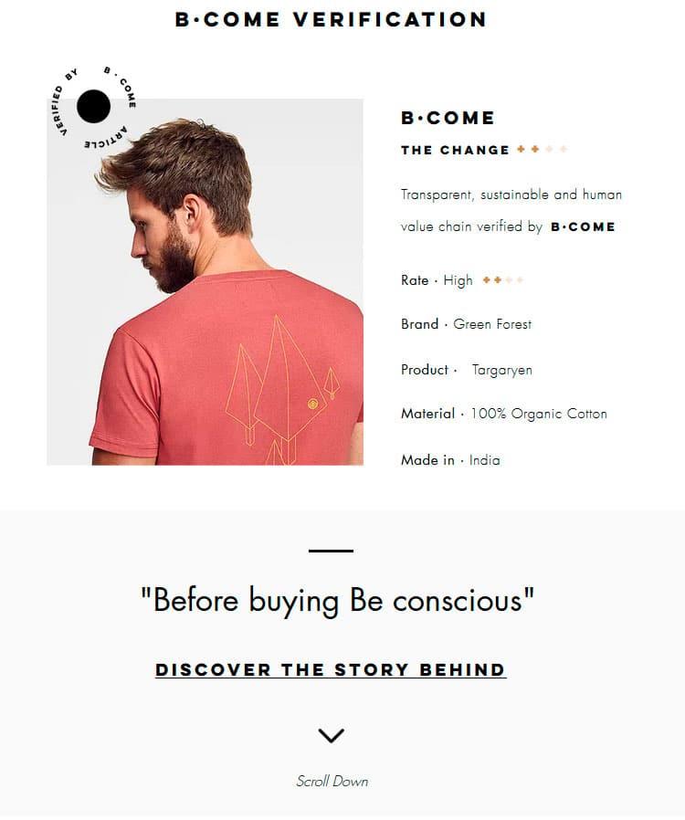 Historia detrás de cada prenda certificada por BCOME para Green Forest Wear