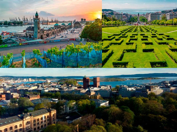 Hamburgo, Oslo y Lisboa, galardonadas como ciudad verde europea en 2011, 2019 y 2020