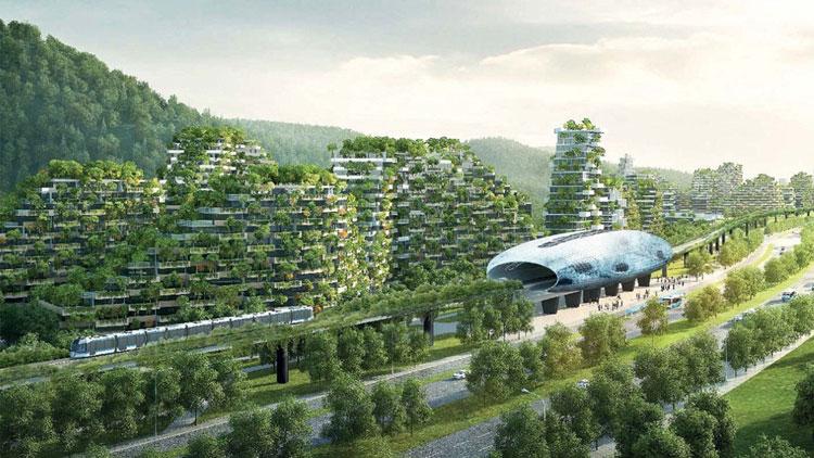 Primera ciudad forestal en China. Diseñada por el arquitecto Stefano Boeri