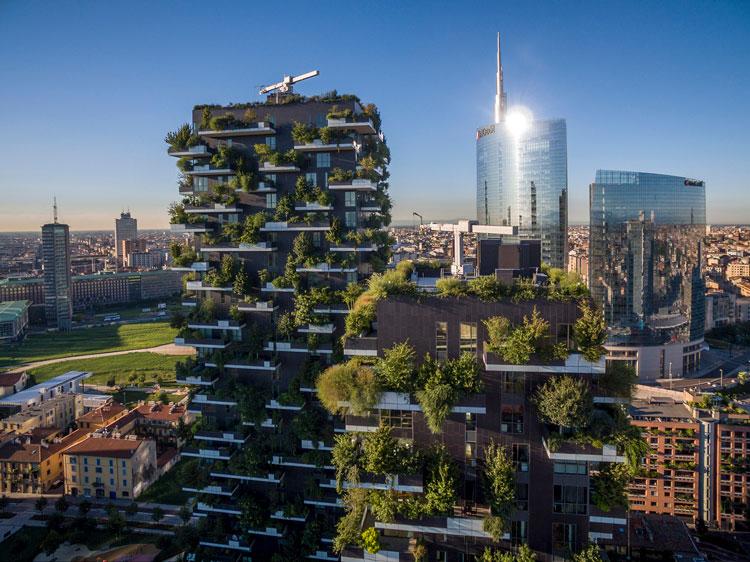 Edificio Vertical Forest en Milan. Diseñado por el arquitecto Stefano Boeri