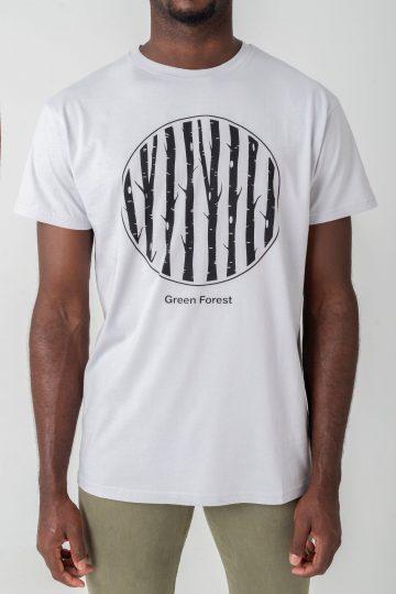 camiseta ecológica en color gris para hombre hecha de algodón ecológico
