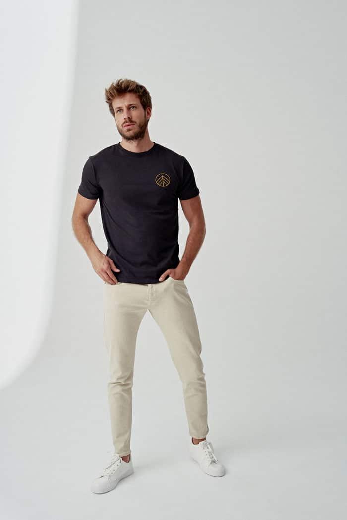 camiseta algodón orgánico para hombre