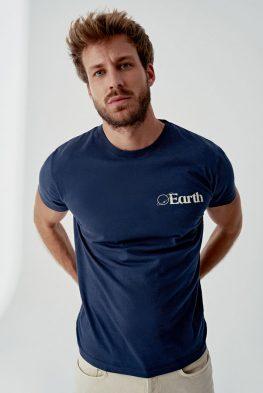 camiseta earth hombre de algodón orgánico certificado